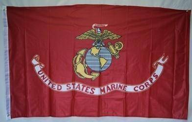 vendor-unknown Flag USMC US Marines Corps Flag - Nylon 3 x 5 Flag sleeve