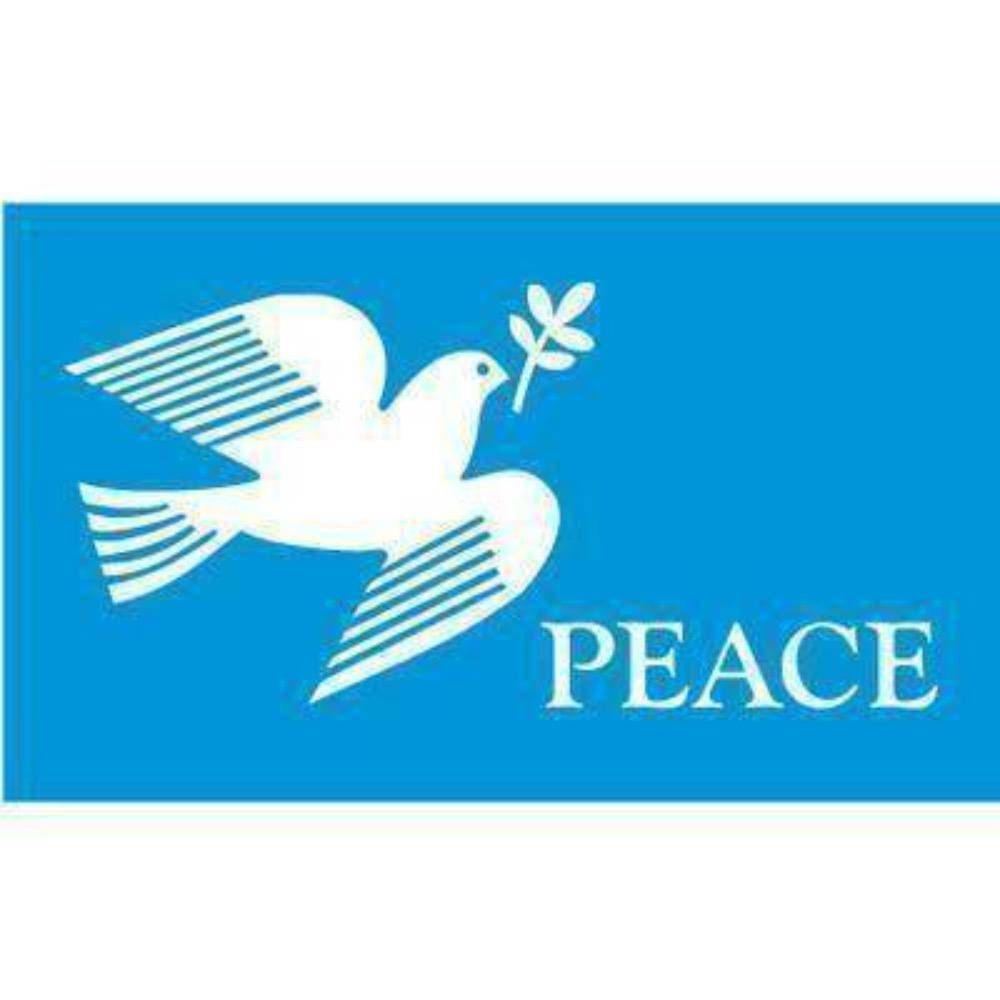 RU Flag World Peace Flag - The Dove of Peace  Flag 3 X 5 ft. Rough Tex