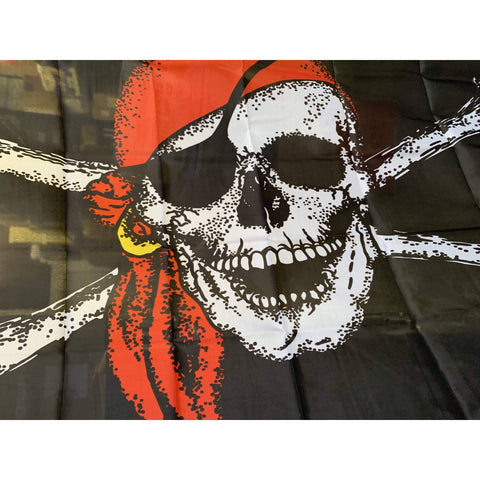 Image of vendor-unknown Flags By Size 3x5 Pirate Jolly Roger Red Hat Flag 3 X 5 ft. Standard