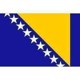 RU Flag Bosnia & Herzegovina Flag 4 X 6 inch on stick