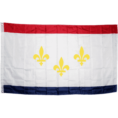 RU Flags By Size City of New Orleans Flag 3 X 5 ft.