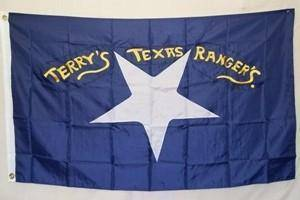 vendor-unknown Flag Confederate Terry's Texas Rangers Flag Nylon Embroidered 3 x 5 ft.