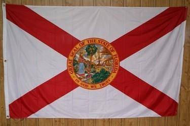vendor-unknown Flag Florida Knitted Nylon 5 x 8 Flag