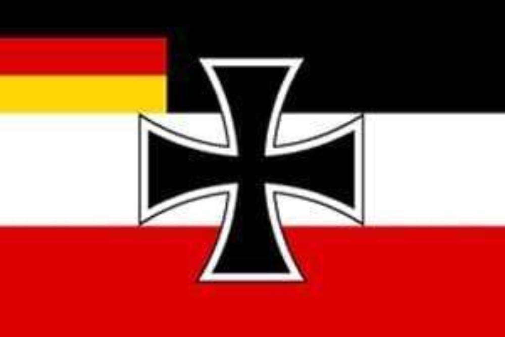 vendor-unknown Flags By Size German Jack Flag w/ German Flag In Corner 3 X 5 ft. Standard