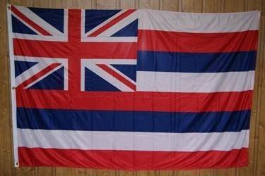 vendor-unknown Flag Hawaii Knitted Nylon 5 x 8 Flag