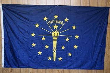 vendor-unknown Flag Indiana Knitted Nylon 5 x 8 Flag