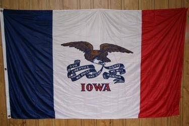 vendor-unknown Flag Iowa Knitted Nylon 5 x 8 Flag