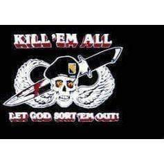 vendor-unknown Flag Kill Em All, Let God Sort 'em Out! Flag 3 X 5 ft. Standard