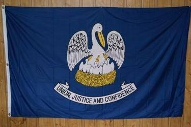 vendor-unknown Flag Louisiana Knitted Nylon 5 x 8 Flag