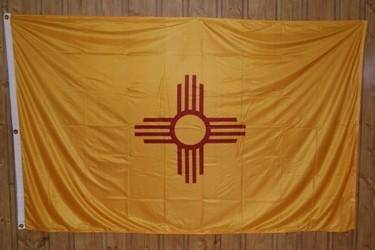 vendor-unknown Flag New Mexico Kitted Nylon 5 x 8 Flag