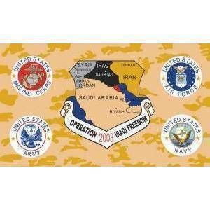 vendor-unknown Flag Operation Iraqi Freedom Flag 3 X 5 ft. Standard