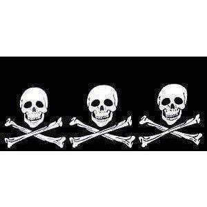 Image of vendor-unknown Flags By Size Pirate 3 Skulls Jolly Roger Flag 3 X 5 ft. Standard