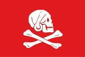 Image of vendor-unknown Flags By Size Pirate Captain Henry Every (Red) Flag 3 X 5 ft. Standard