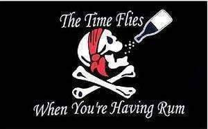 vendor-unknown Flag Pirate Time Flies When You're Having Rum Flag 3 X 5 ft. Standard