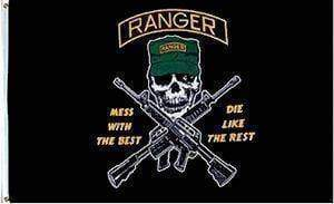 vendor-unknown Flag Rangers Flag, Mess with the Best, Die Like the Rest Flag 3 X 5 ft. Standard