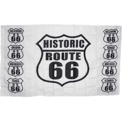 RU Flag Route 66 Flag 3 X 5 ft. Standard