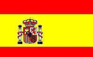 vendor-unknown Flag Spain Flag 12 x 18 inch on Stick
