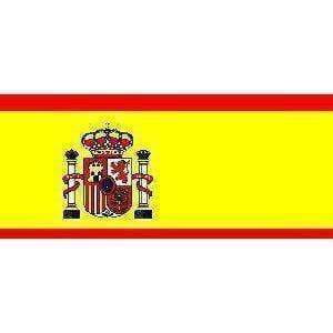 vendor-unknown Flag Spain Flag 4 X 6 inch on stick