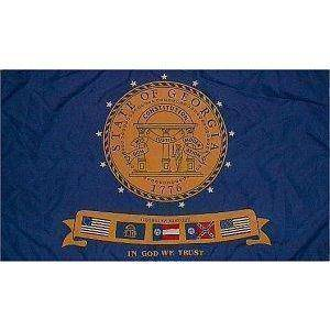 vendor-unknown Flag State of Georgia (2001-2003) Flag 3 X 5 ft. Standard