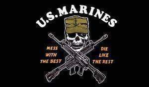 vendor-unknown Flag U.S. Marines Flag, Mess with the Best, Die like the Rest 3 X 5 ft. Standard