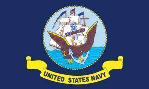 vendor-unknown Flag U.S. Navy Flag 12 x 18 inch on Stick