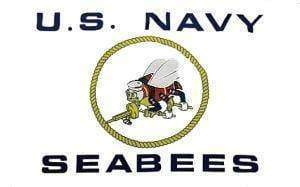 RU Flags By Size US Navy Seabees White Flag 3 X 5 ft. Standard
