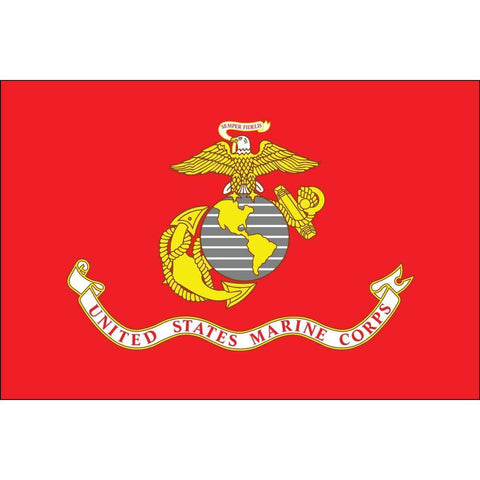 vendor-unknown Flags By Size USMC Marine Corps Flag - Nylon Printed - 2 X 3 ft. Junior