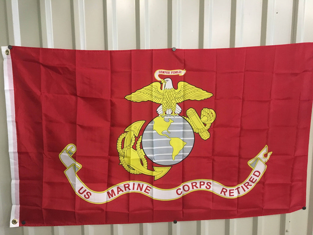 vendor-unknown Flag USMC Marine Corps Retired Flag 3 X 5 ft. Standard