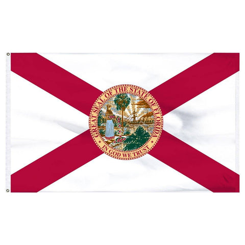Florida Flag - Outdoor All Sizes Nylon Made In Usa 2X3