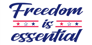 Freedom Is Essential Bumper Sticker