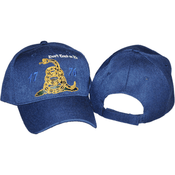 vendor-unknown Gadsden Flags (Don't Tread on Me Flags) Blue 1776 Gadsden Cap