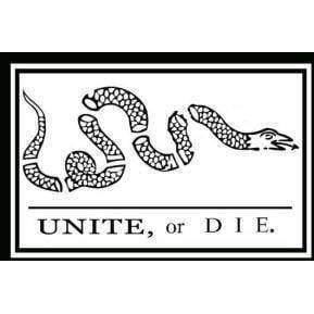 vendor-unknown Gadsden Flags (Don't Tread on Me Flags) Unite or Die Flag - 3 X 5 ft. - Standard - Benjamin Franklin