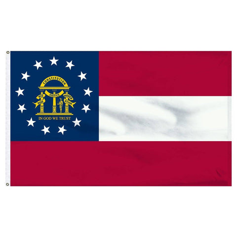 Georgia Flag - Outdoor All Sizes Nylon Dyed Made In Usa 2X3 Boat Flag With Grommets