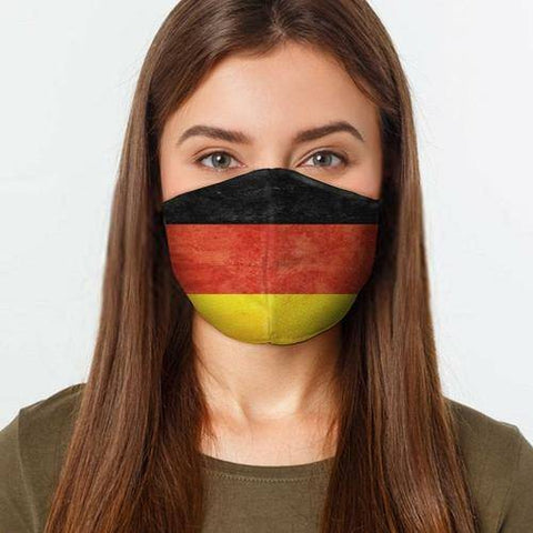 Image of German Flag Face Cover L / Multicolored Healthcare