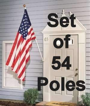 vendor-unknown Hardware And Flag Poles 54 Flag Pole Set