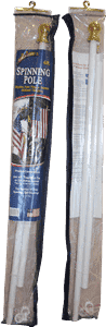 vendor-unknown Hardware And Flag Poles 6ft White Aluminum Spinning Flag Pole