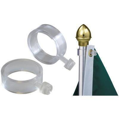 vendor-unknown Hardware And Flag Poles Clear Plastic EZ-Mount Flag Rings (Set of Two)