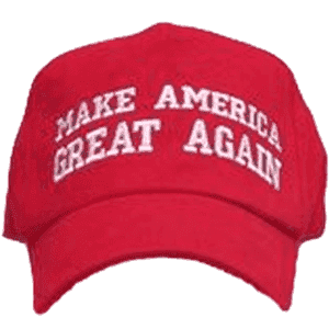 RU Hat MAGA - Make America Great Again Cap (red with white thread)