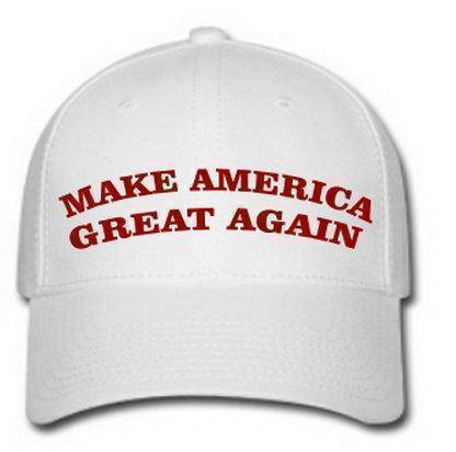 RU Hat Make America Great Again Cap (white with red thread)