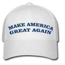 vendor-unknown Hats & Ball Caps Make America Great Again Cap (white with blue thread)