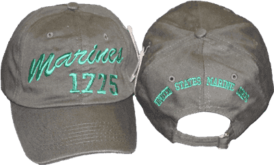 vendor-unknown Hats & Ball Caps Olive Marines 1775 Cap