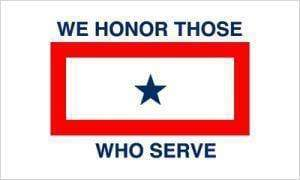 vendor-unknown Historic War Flags We Honor Those who Serve Flag 3 X 5 ft. Standard
