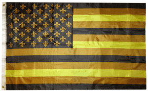 United Saints Black and Gold Flag - Made in USA