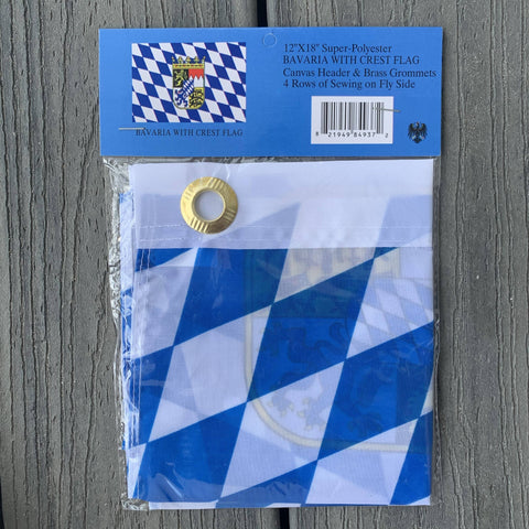 Bavaria With Crest Flag 12 X 18 Inch Grommets Cities And Provinces
