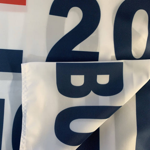Trump 2020 Flag No More Bullshit White Made In Usa