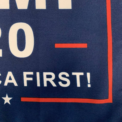 12X18 Trump 2020 Keep America First Flag - Boat Blue Background 100D Rough Tex