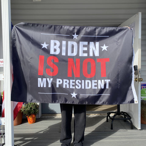 Image of Biden Is Not My President Flag - Made in USA