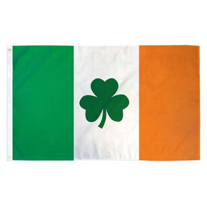 Ireland Shamrock Flag - Made in USA