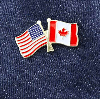 UFS Lapel Pin USA Canada (combined) Flag Lapel Pin