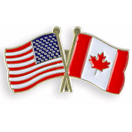 Image of UFS Lapel Pin USA Canada (combined) Flag Lapel Pin